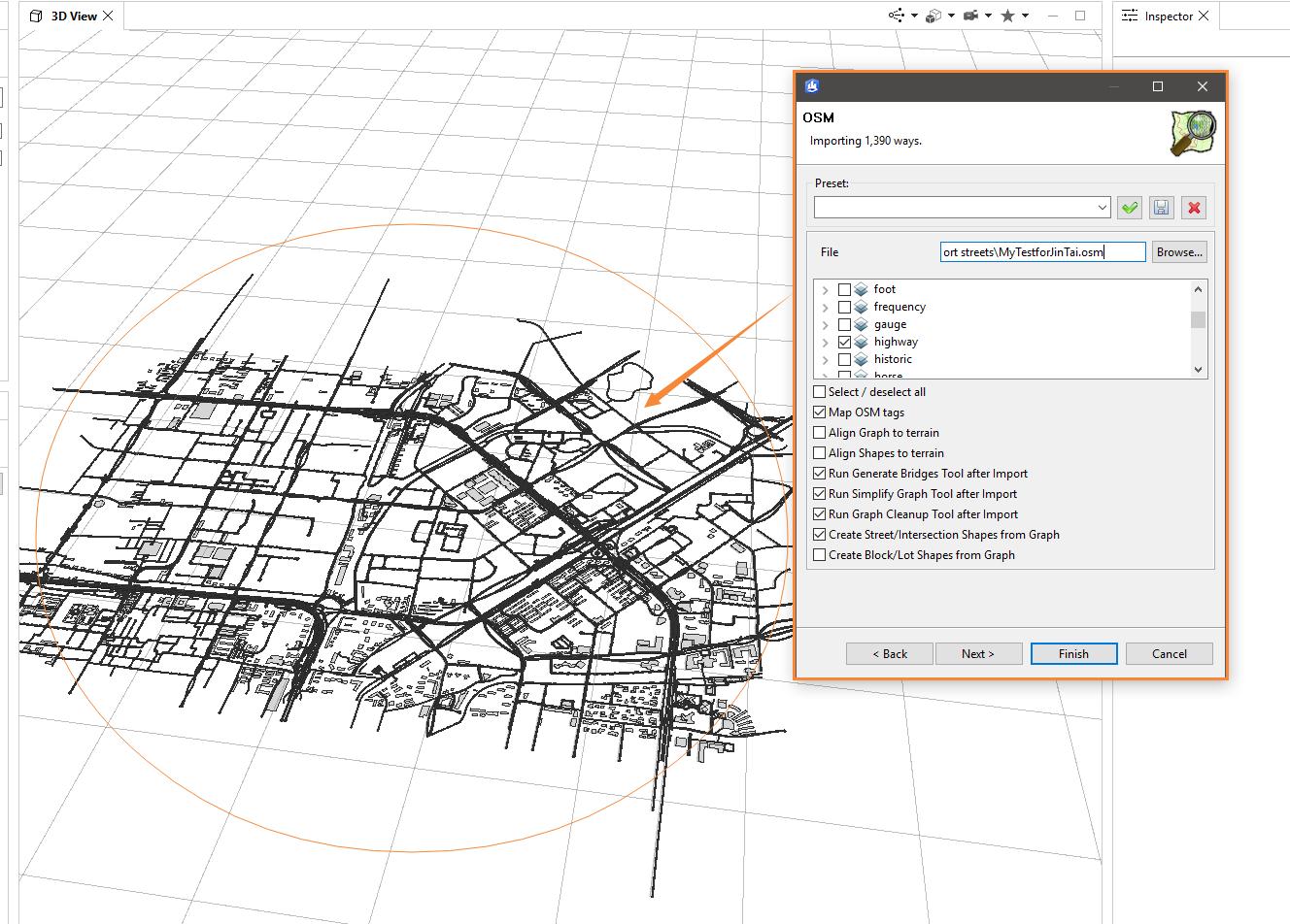 导入OSM至CityEngine场景